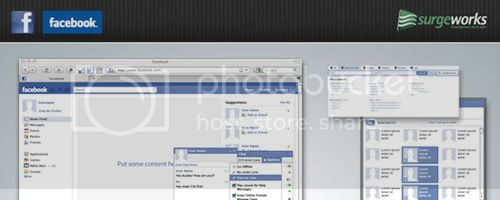facebook gui psd Facebook / Twitter FREE PSD Tempalte