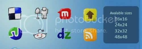 social icon 1 20+ Social Bookmarking Iconset