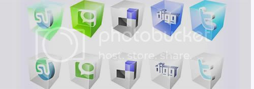 social icon 14 20+ Social Bookmarking Iconset