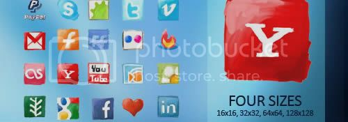 social icon 2 20+ Social Bookmarking Iconset