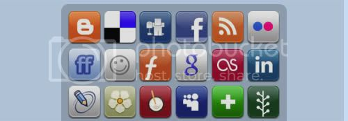 social icon 20 20+ Social Bookmarking Iconset