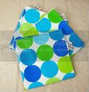 Set 3 EcoNaps 12x12 Reusable Fabric Napkins - Disco Dots Blue