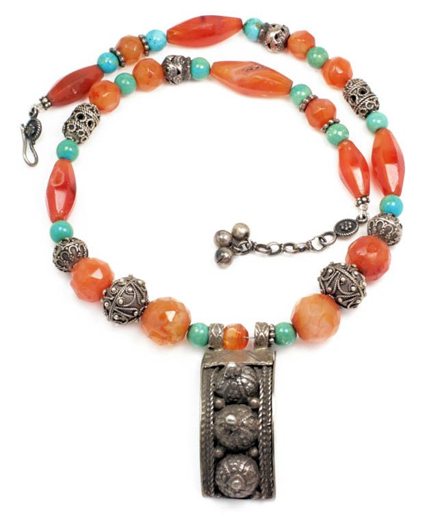 Vintage Ethnic Bedouin Necklace 