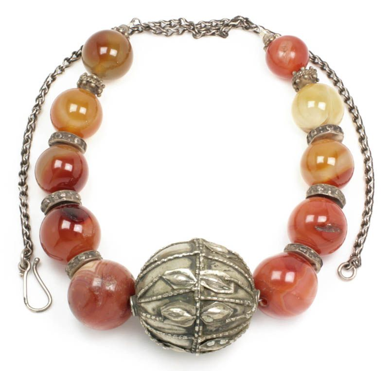 View ProductVintage Ethnic Bedouin Necklace ~ Carnelian & Silver