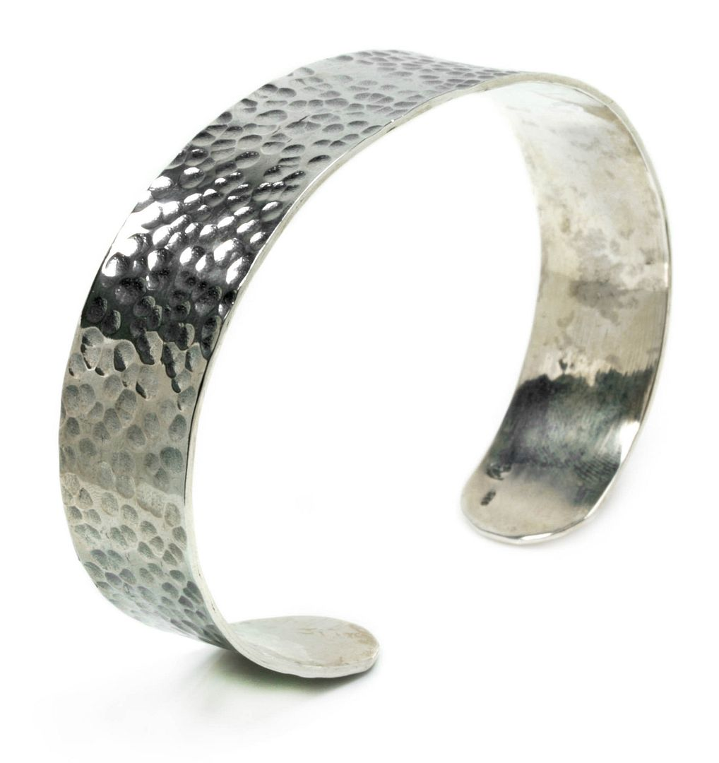 Sterling Silver Cuff Bracelet ~ Hammer Finish 