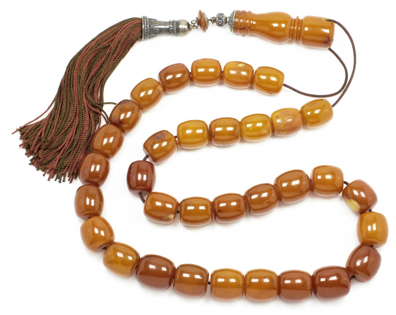 Prayer Beads-Tasbih-Masbaha-Komboloi ~ Collectible, Antique Amber-Kahraman - Extra Large 