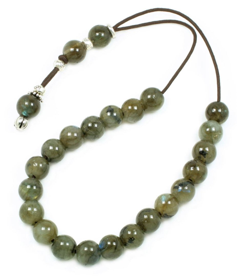 Worry Beads-Greek Komboloi ~ Labradorite Gemstone - Round Shape